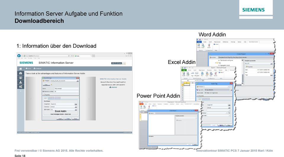 Addin 1: Information über den
