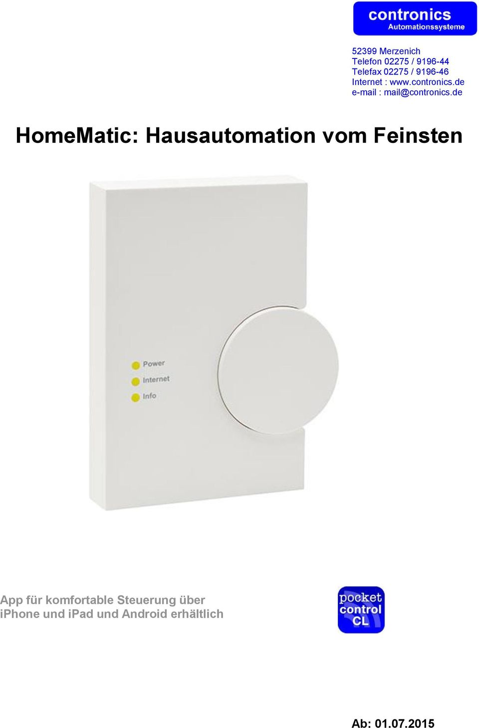 de HomeMatic: Hausautomation vom Feinsten App für komfortable