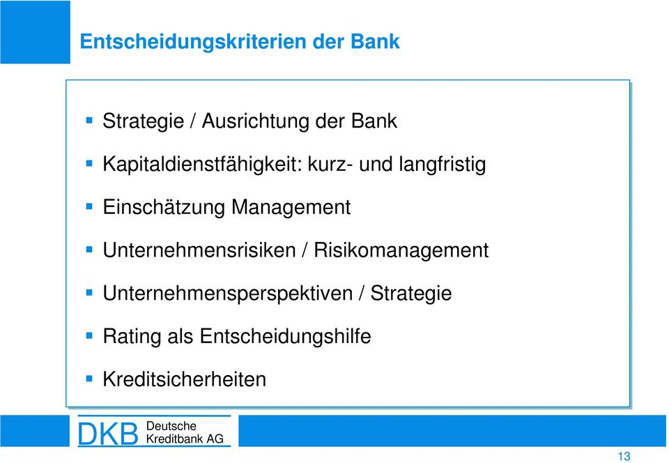 Management Unternehmensrisiken / Risikomanagement
