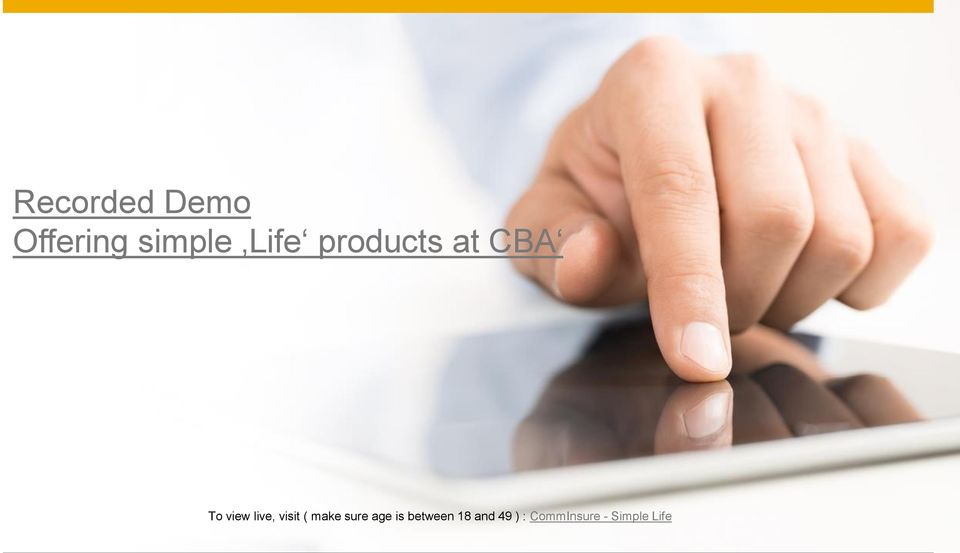 and 49 ) : CommInsure - Simple Life 2015 SAP SE or