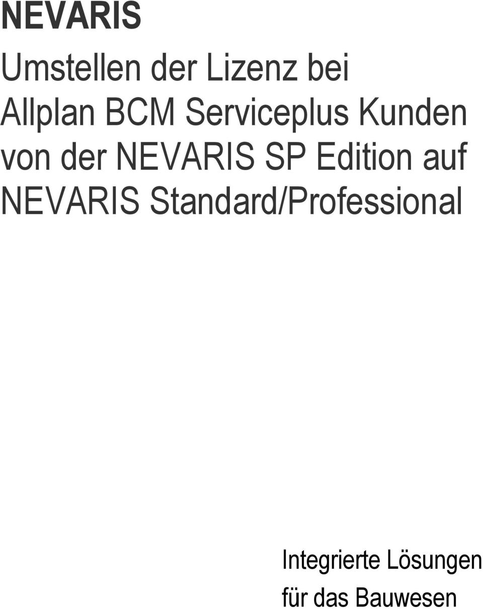 SP Edition auf NEVARIS