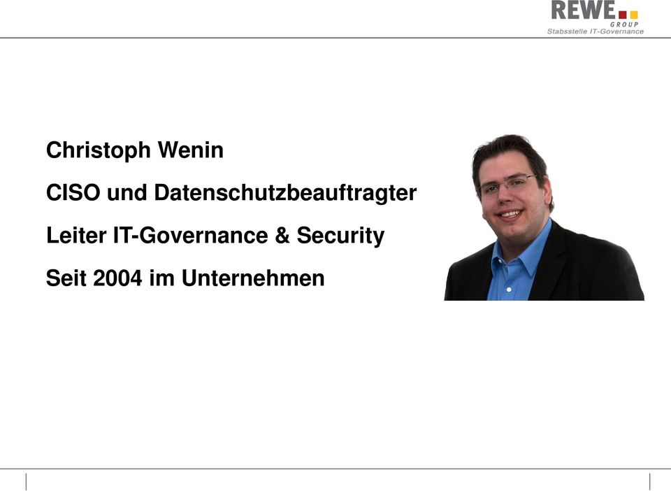 Leiter IT-Governance &