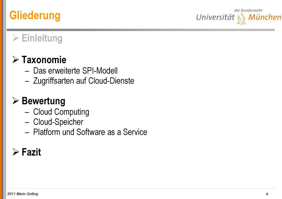 Bewertung Cloud Computing Cloud-Speicher