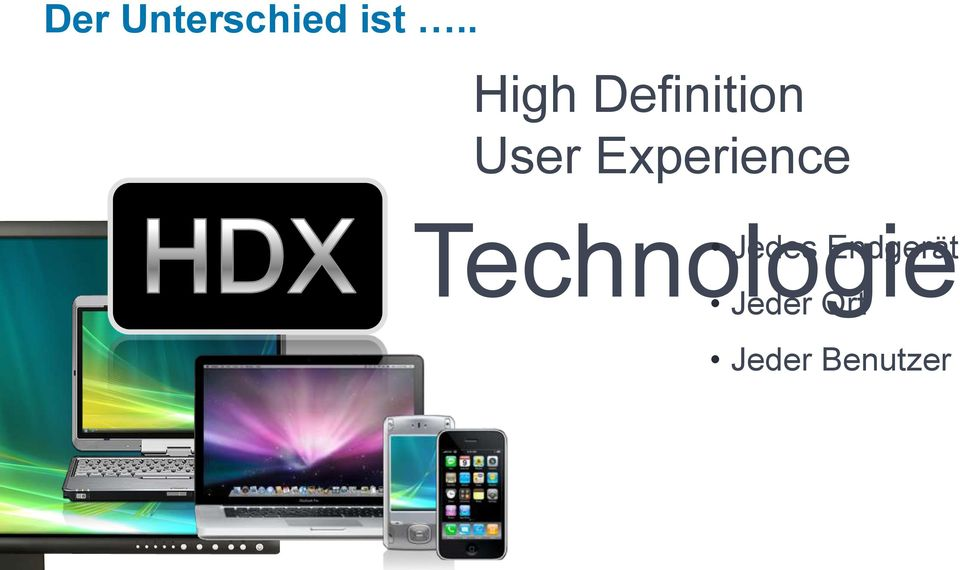 Experience Technologie