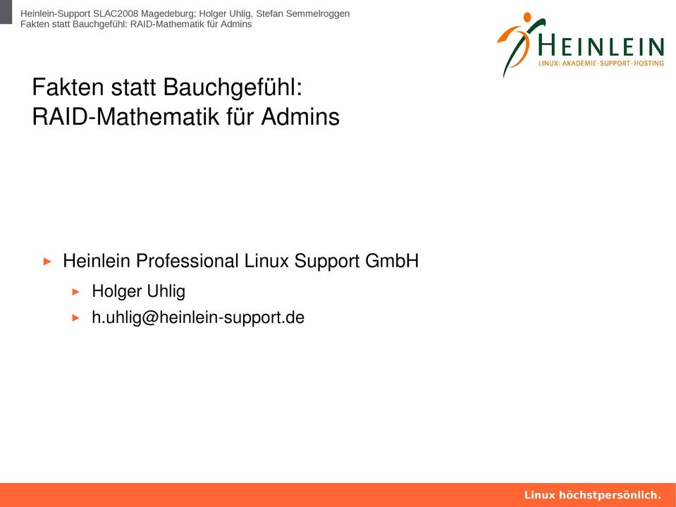 Professional Linux Support GmbH