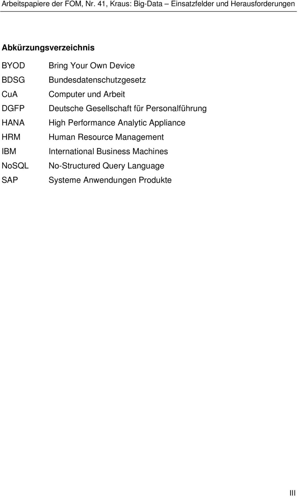 Personalführung High Performance Analytic Appliance Human Resource Management