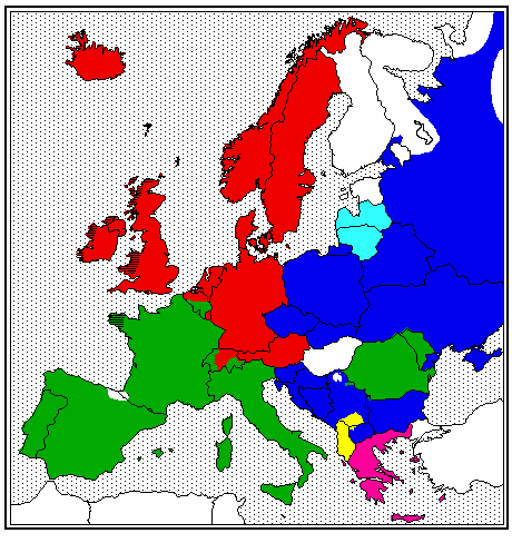 Indoeuroäische Sprachzweige in Europa Quelle: Matthew Dryer, http://linguistics.buffalo.edu/people/faculty/dryer/dryer/map.euro.ie.