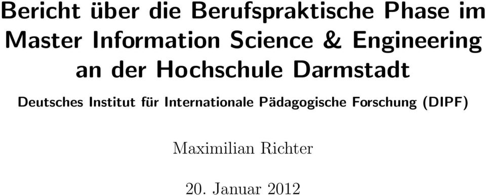 Darmstadt Deutsches Institut für Internationale