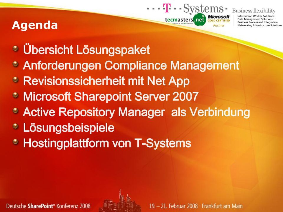 Sharepoint Server 2007 Active Repository Manager als