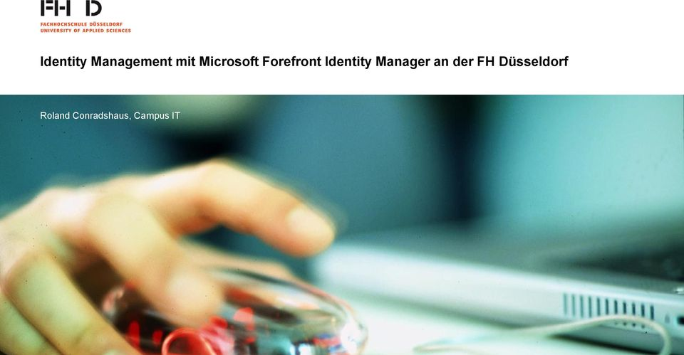 Identity Manager an der FH