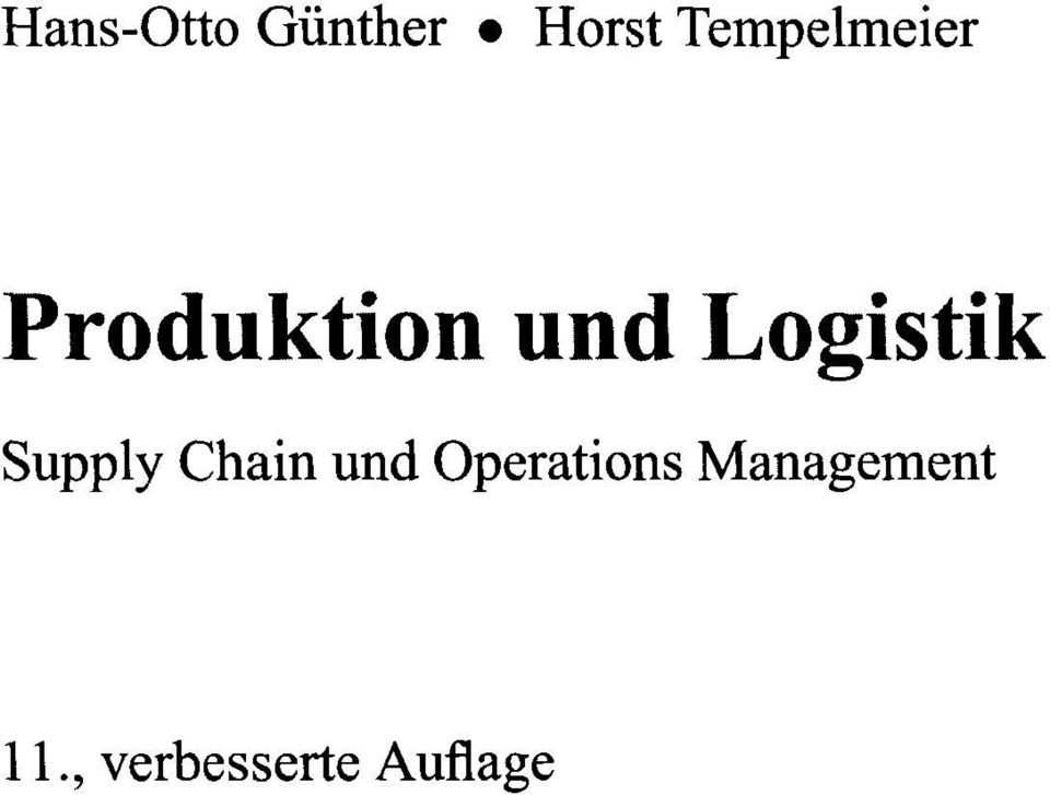 Logistik Supply Chain und