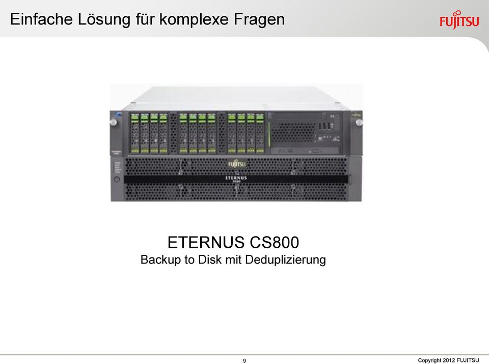 ETERNUS CS800 Backup