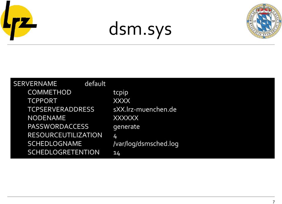 de NODENAME XXXXXX PASSWORDACCESS generate