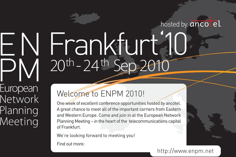 Come and join in at the European Network Planning Meeting in the heart of the