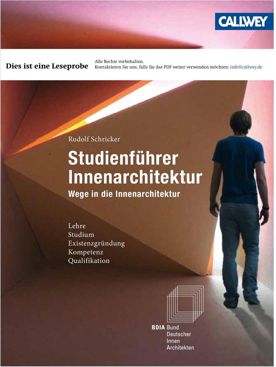 Studienf hrer innenarchitektur pdf for Lehre innenarchitektur