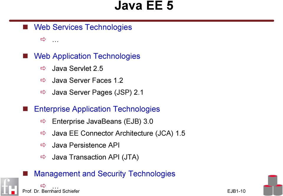 1 Enterprise Application Technologies Enterprise JavaBeans (EJB) 3.