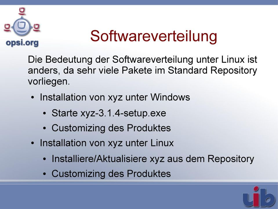 Installation von xyz unter Windows Starte xyz-3.1.4-setup.