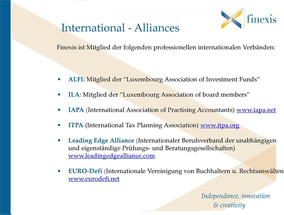 net ITPA (International Tax Planning Association) www.itpa.