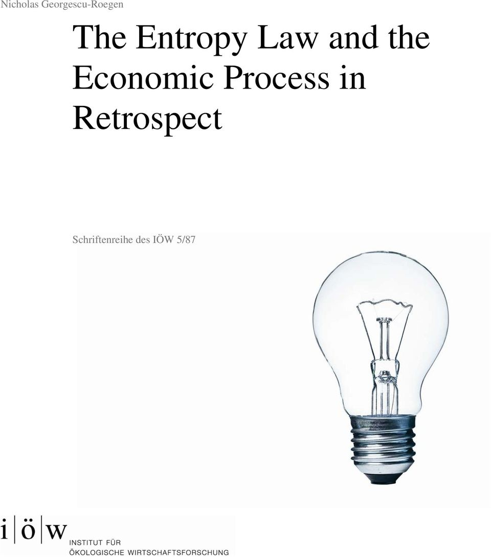 Economic Process in