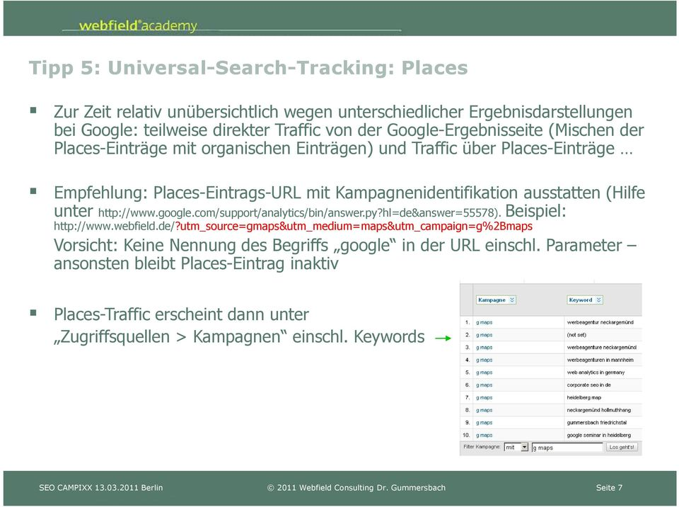 (Hilfe unter http://www.google.com/support/analytics/bin/answer.py?hl=de&answer=55578). Beispiel: http://www.webfield.de/?