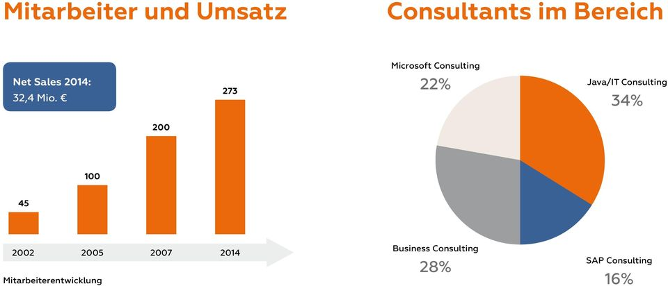 273 Microsoft Consulting 22% Java/IT Consulting 34%