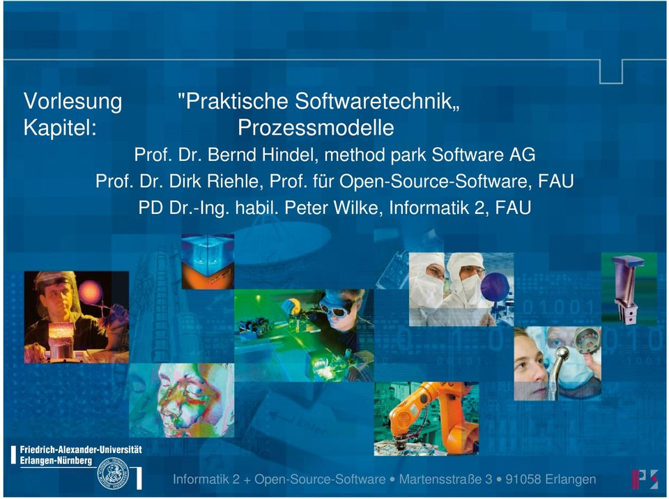 für Open-Source-Software, FAU PD Dr.-Ing. habil.