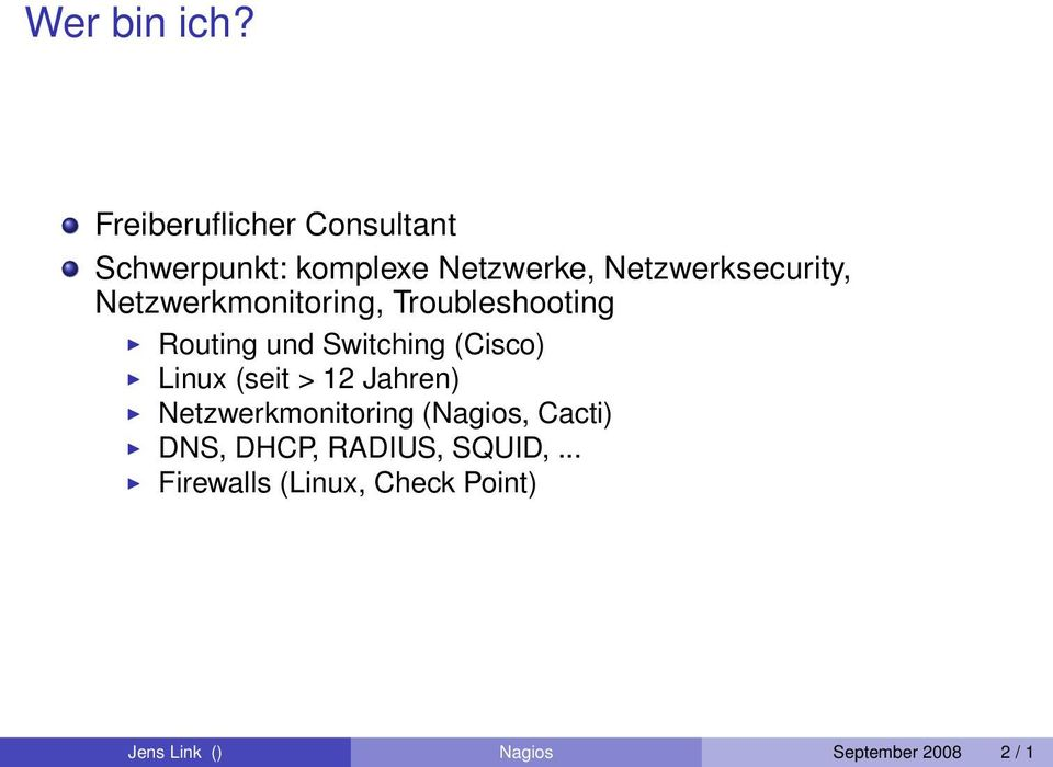 Netzwerkmonitoring, Troubleshooting Routing und Switching (Cisco) Linux (seit >
