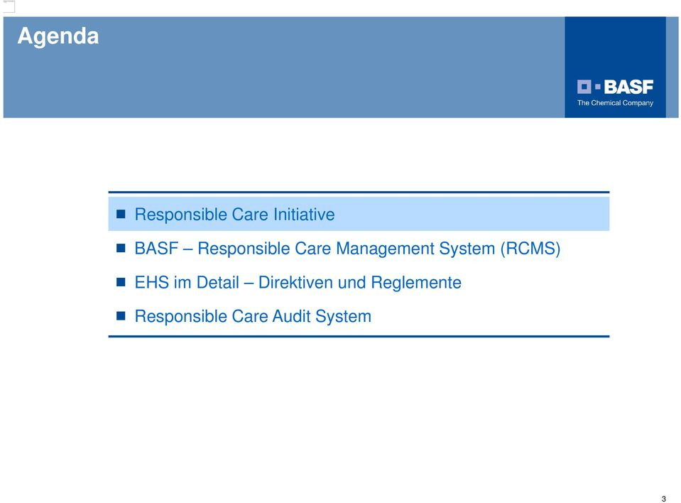 Responsible Care Management System (RCMS) EHS im
