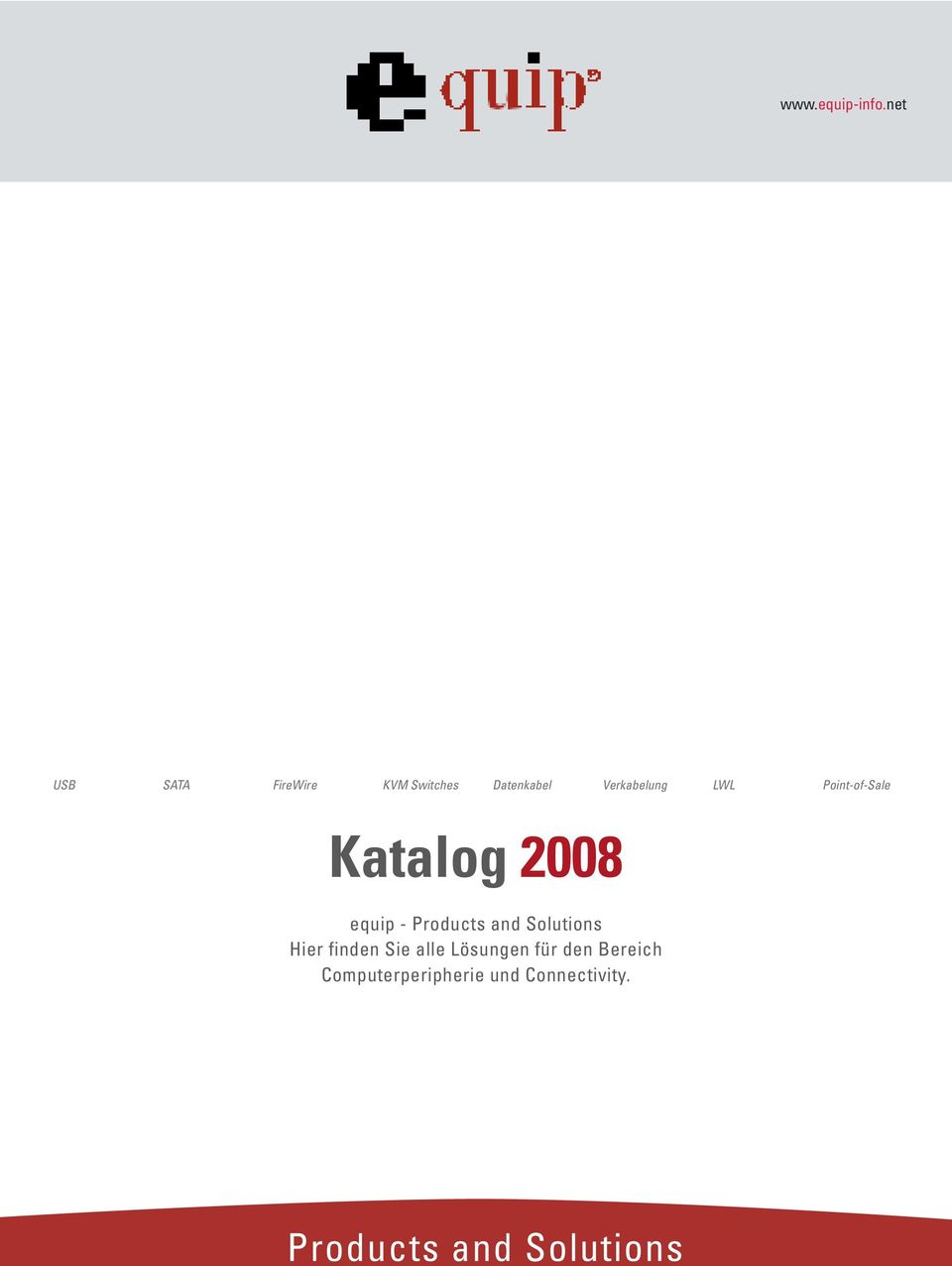 LWL Point-of-Sale Katalog 2008 equip - Products and