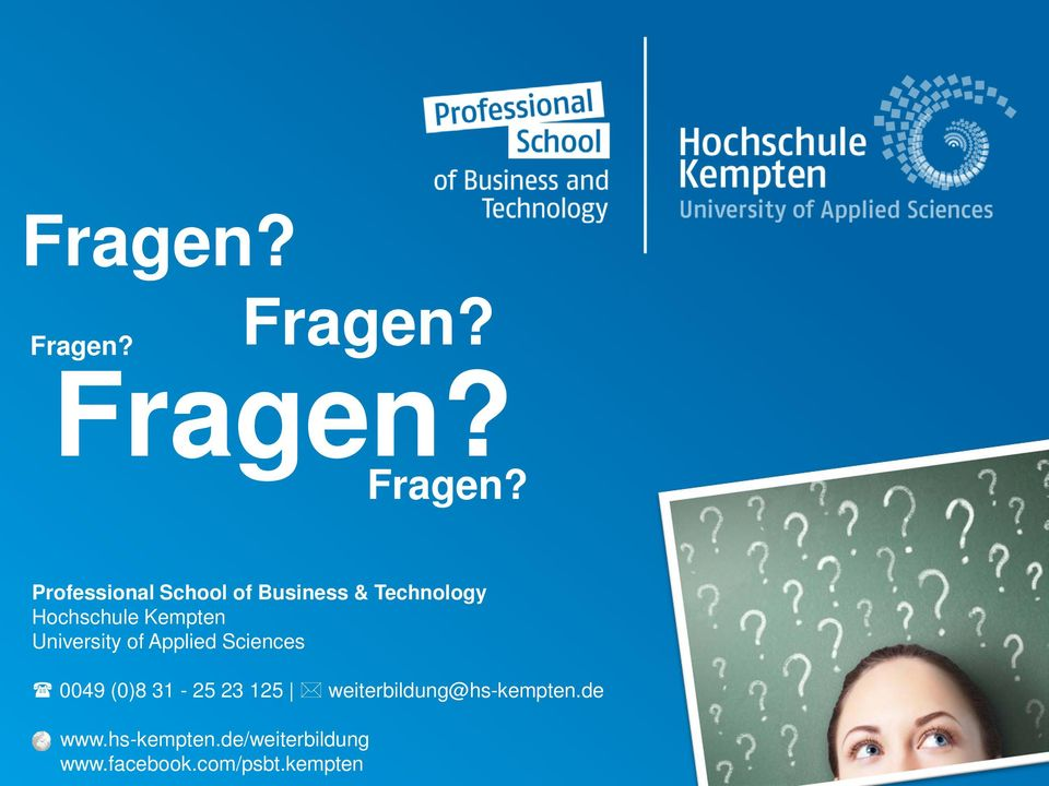 Professional School of Business & Technology Hochschule
