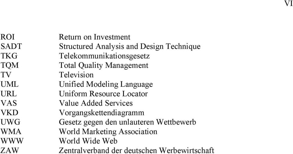 Language Uniform Resource Locator Value Added Services Vorgangskettendiagramm Gesetz gegen den