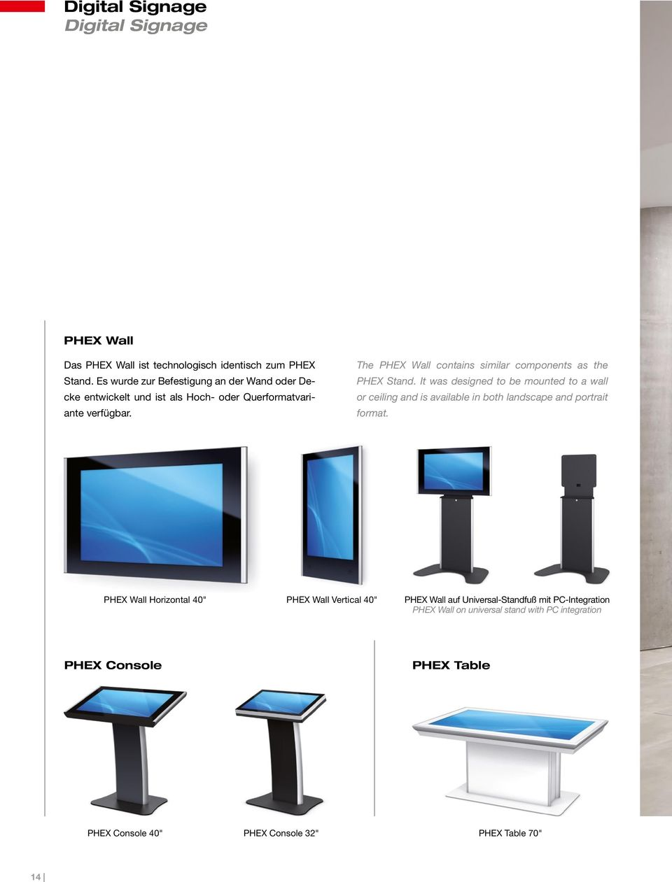The PHEX Wall contains similar components as the PHEX Stand.