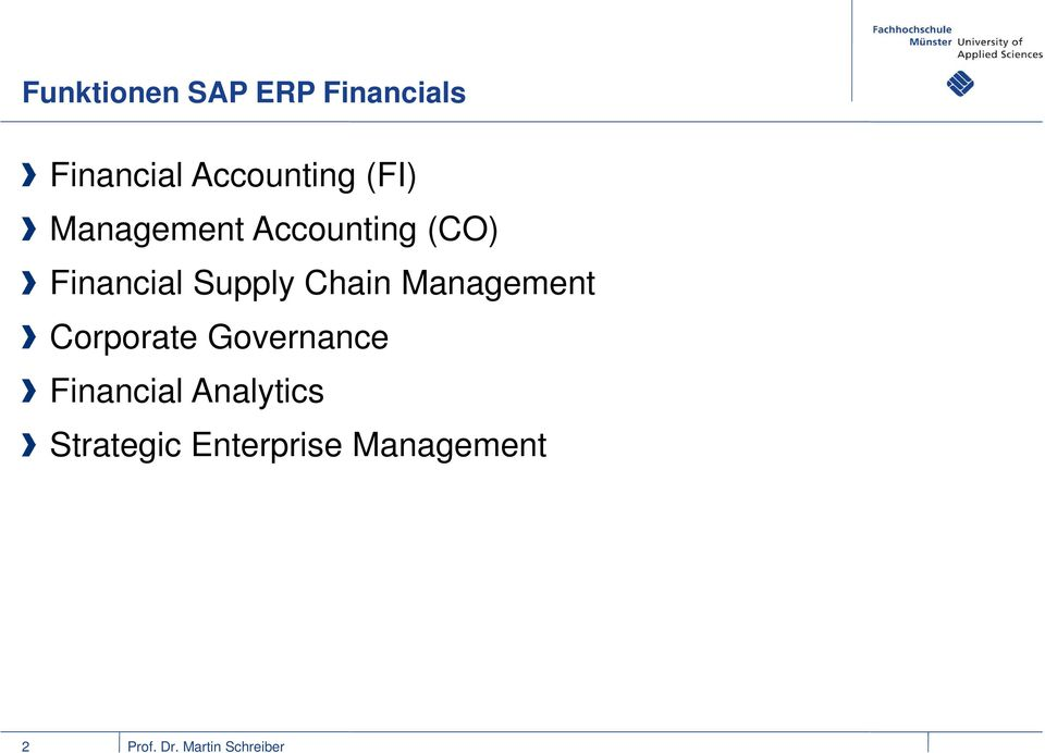 Financial Supply Chain Management Corporate