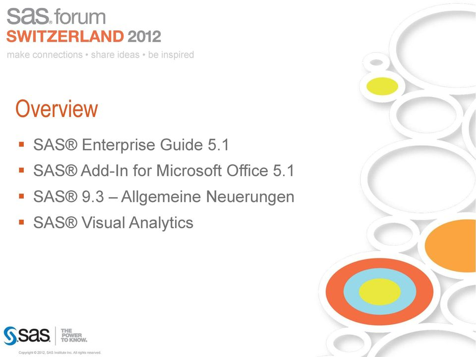 1 SAS Add-In for Microsoft Office 5.