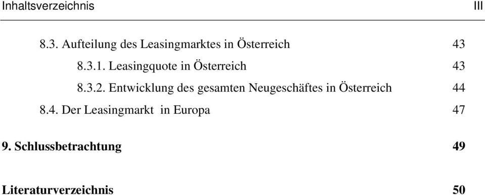 Leasingquote in Österreich 43 8.3.2.