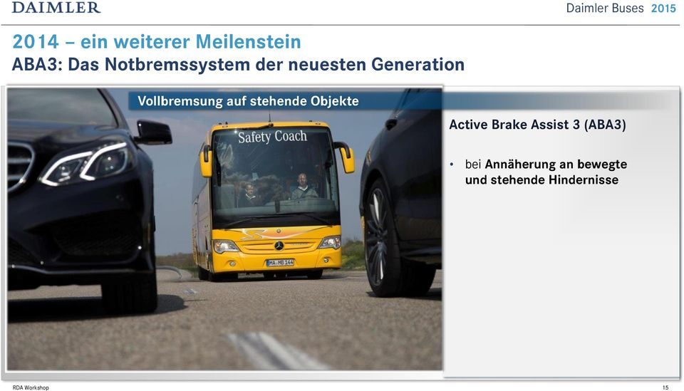auf stehende Objekte Active Brake Assist 3 (ABA3)