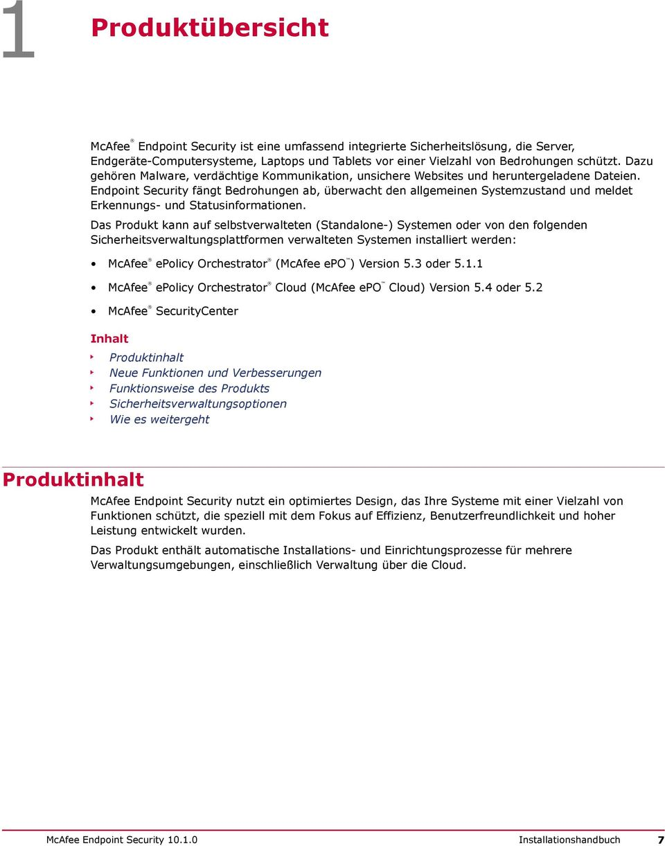 McAfee Endpoint Security - PDF