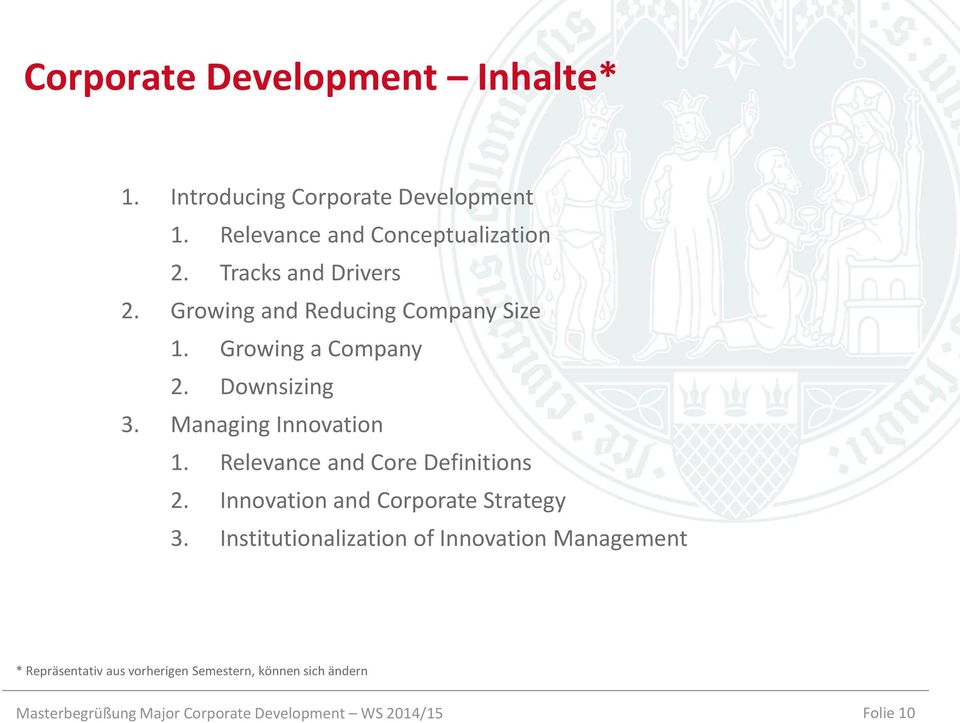 Relevance and Core Definitions 2. Innovation and Corporate Strategy 3.