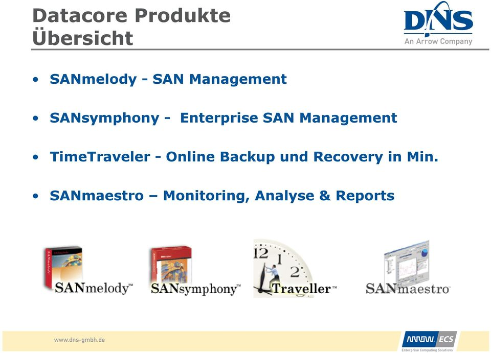 Management TimeTraveler - Online Backup und