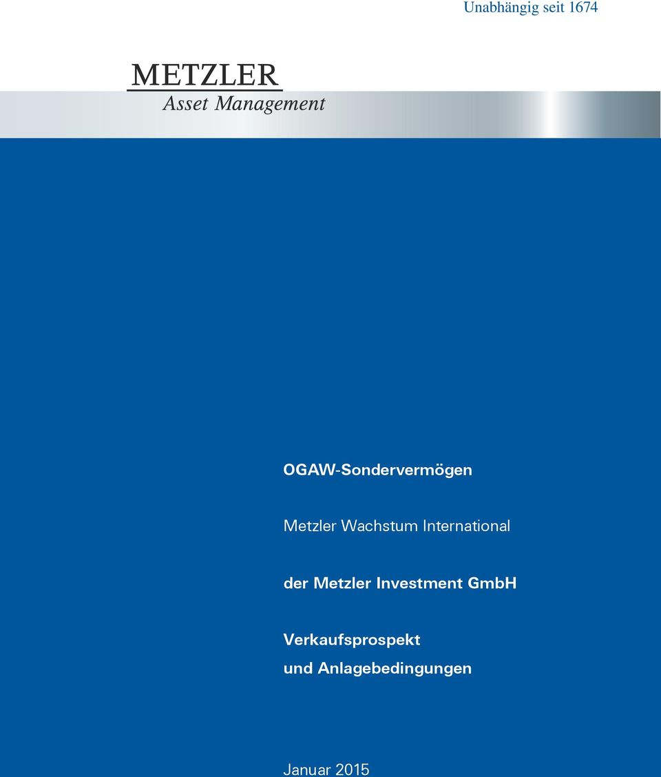 International der Metzler Investment