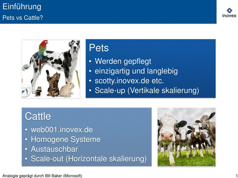 de etc. Scale-up (Vertikale skalierung) Cattle web001.inovex.