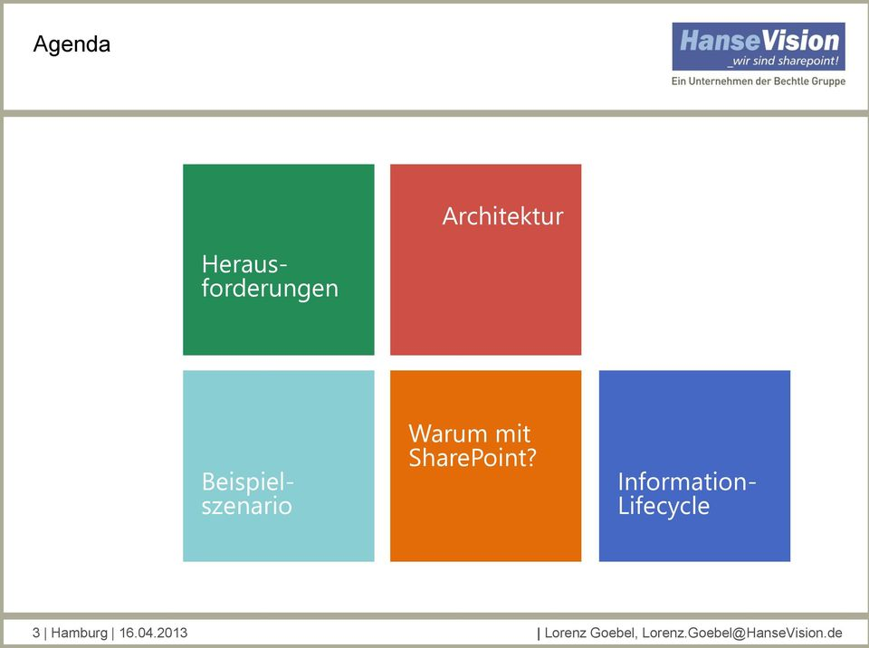 Information- Lifecycle 3 Hamburg 16.04.