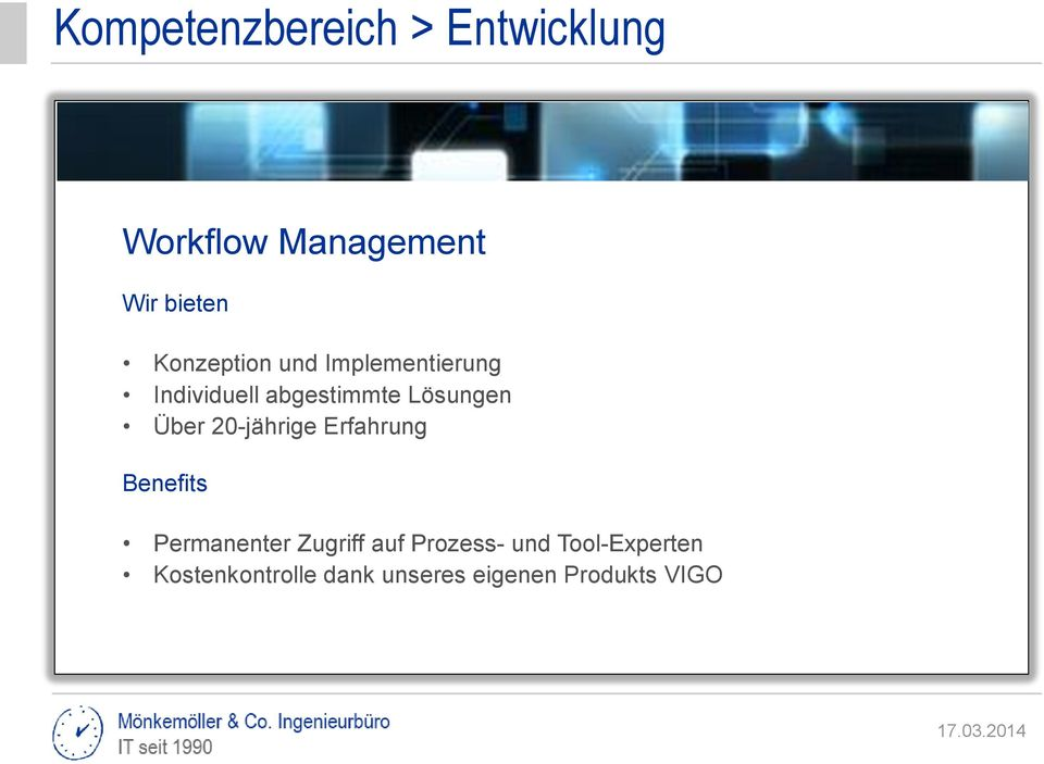 Erfahrung Requirements Workflow Identity Benefits (CRM) Business Process IT-