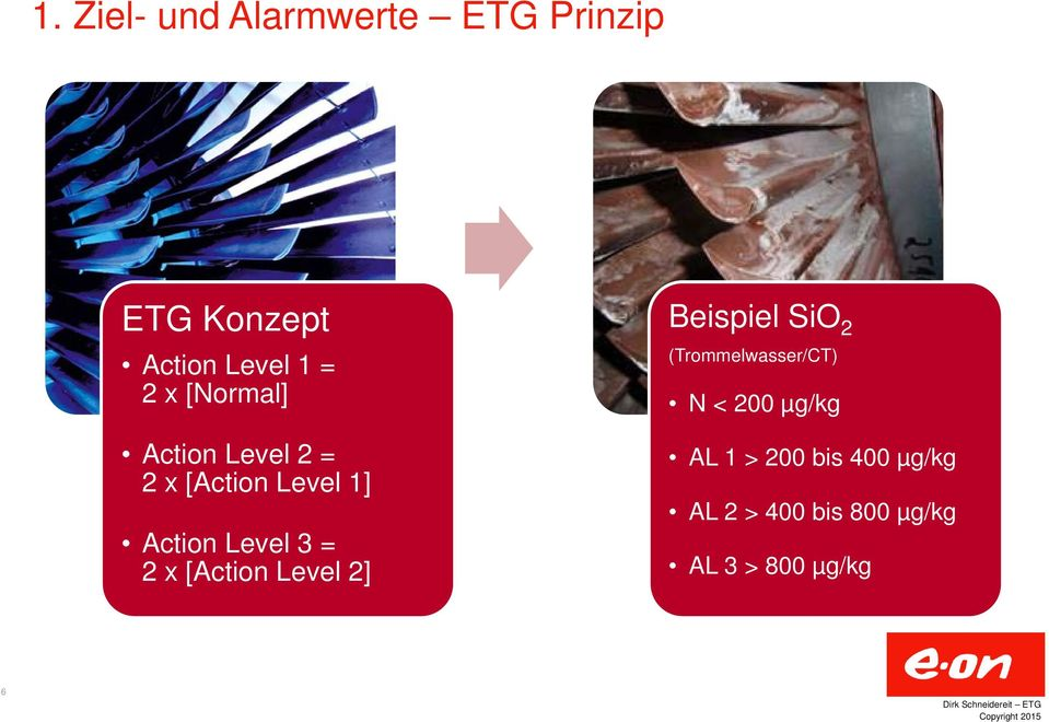 x [Action Level 2] Beispiel SiO 2 (Trommelwasser/CT) N < 200 µg/kg