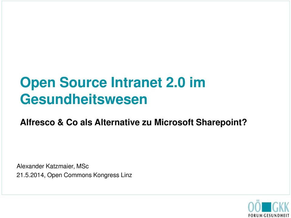 Alternative zu Microsoft Sharepoint?