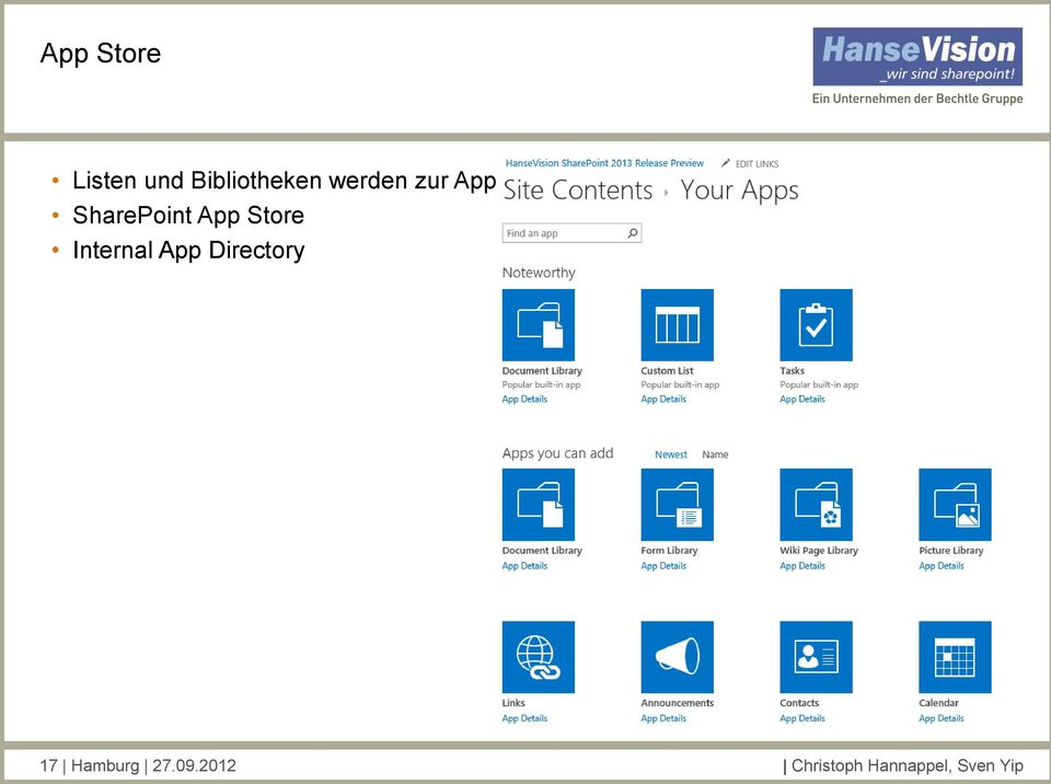 Internal App Directory 17 Hamburg