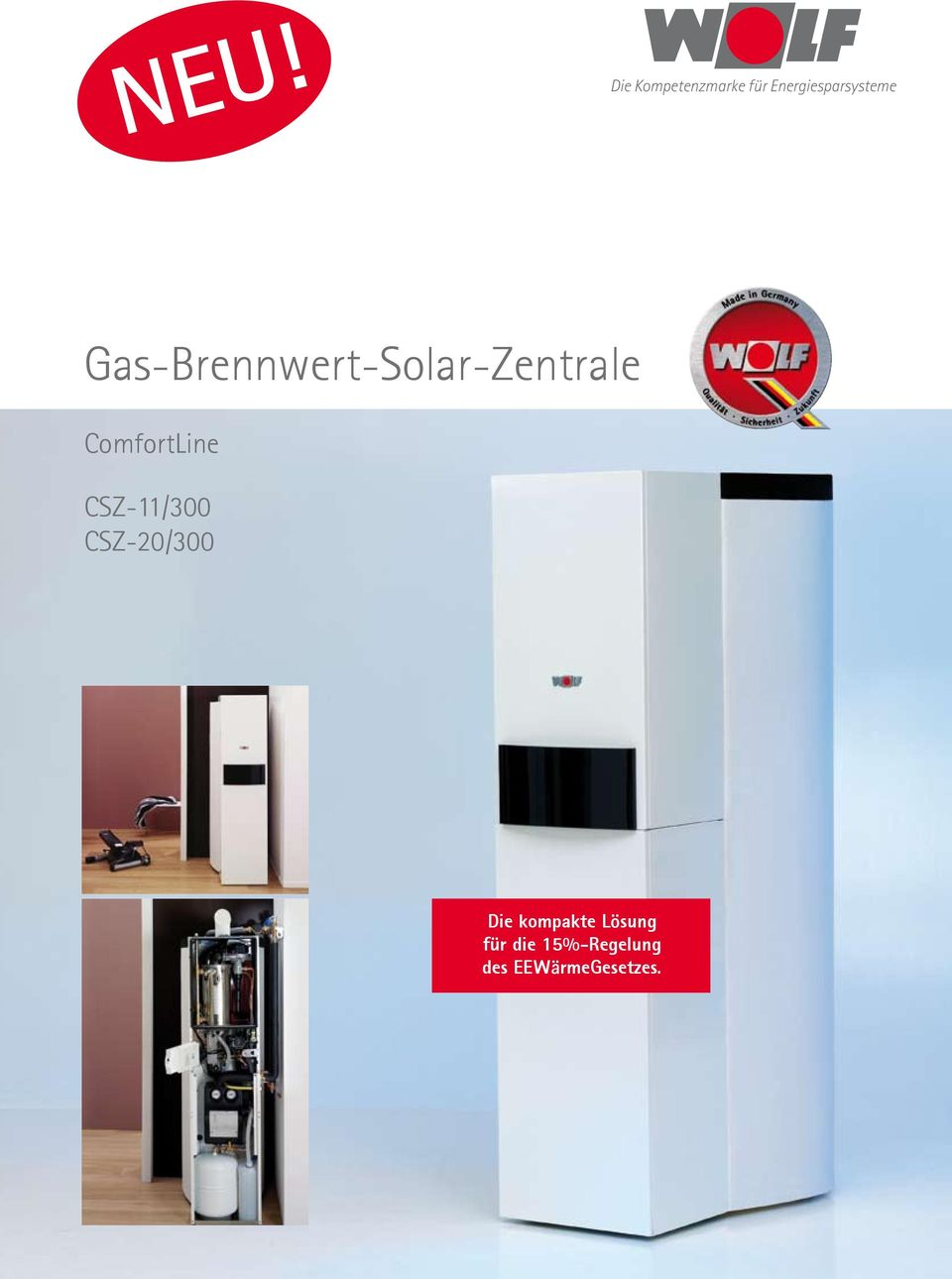 neu gas brennwert solar zentrale comfortline csz 11 300 csz 20 300 die kompakte l sung f r. Black Bedroom Furniture Sets. Home Design Ideas