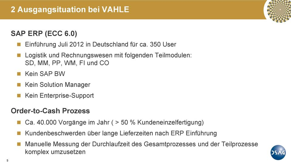Manager Kein Enterprise-Support Order-to-Cash Prozess Ca. 40.