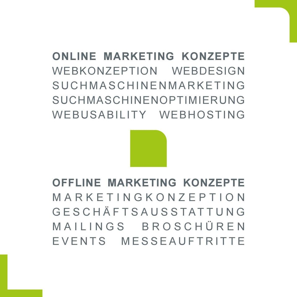 WEBUSABILITY WEBHOSTING OFFLINE MARKETING KONZEPTE