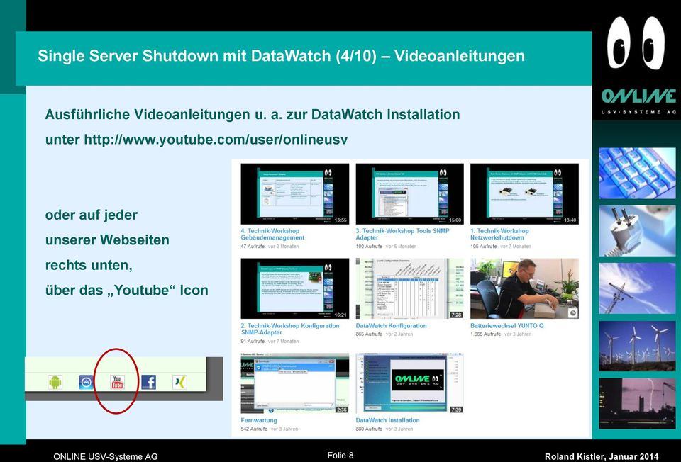 zur DataWatch Installation unter http://www.youtube.